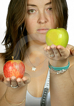 Apples For Your Diet - Girl Sally Free Stock Photography