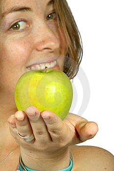 Apples Are Good For You - Girl Sally Free Stock Photos
