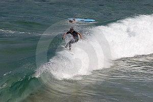 En la cresta de una onda Imagen de archivo
