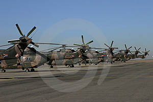 Oryx helicopter tails Stock Image