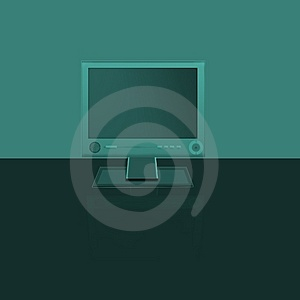Tft Monitor Stock Image