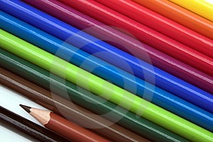 Colourful Pencils Stock Photos