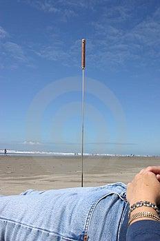 Pegado en la playa Imágenes de archivo libres de regalías