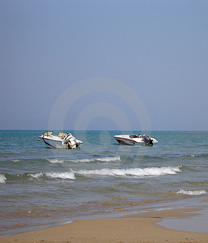 Two Speed Boats Stock Photos