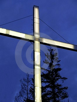 Night Cross Free Stock Photography