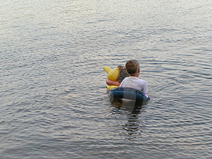 Children In Lake Stock Photos