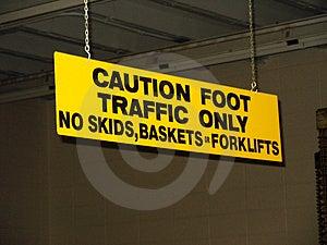 Znak ostrzegawczy Fotografia Stock