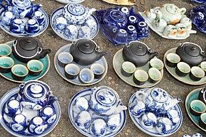 Mini Tea Pots Free Stock Photography