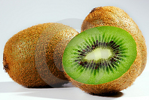 Three Kiwi Royalty Free Stock Images