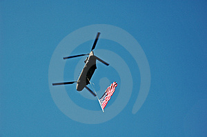 Flying The Red White & Blue Stock Photography - Image: 1800382