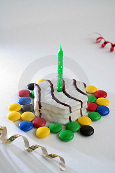 One birthday cake Royalty Free Stock Photos
