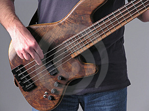 Bass guitar musician 1 Stock Photo