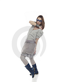 Cool Girl Posing Royalty Free Stock Images - Image: 18002159