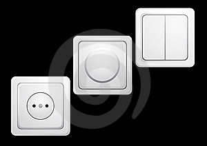 Sockets And Switches. Stock Photo - Image: 18002820