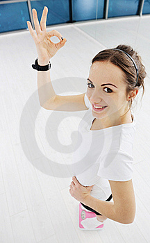 Woman Fitness Workout With Weights Royalty Free Stock Photos - Image: 18003488
