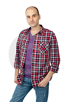 Young Fashion Smiling Man Royalty Free Stock Photography - Image: 18004607