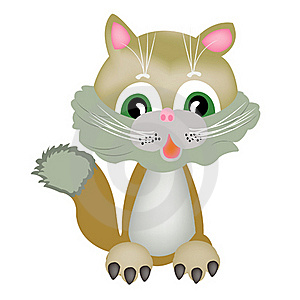 Drawing Nice Kitty Royalty Free Stock Image - Image: 18004946