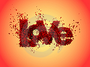 Love From Roses In Warm Colours Royalty Free Stock Photos - Image: 18004968