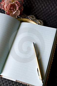 Blank page of journal Stock Images