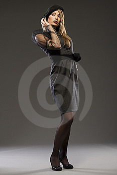 Elegant Fashionable Woman In A Hat Royalty Free Stock Images - Image: 18006679
