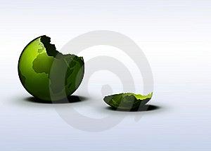 Green Earth - Broken Eggshell Royalty Free Stock Photo - Image: 18008495