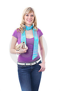 Stylish Blonde Woman Royalty Free Stock Image - Image: 18008616