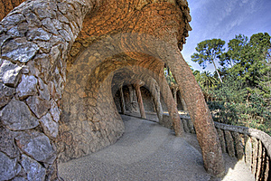 Park Guell, Barcelona, Catalonia, Spain Royalty Free Stock Photo - Image: 18008925