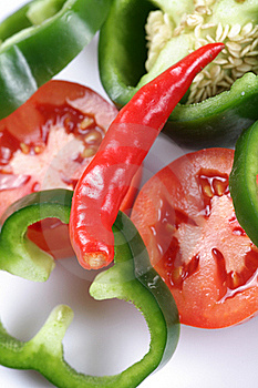 Pepper And Tomatoes Background Stock Images - Image: 18008974