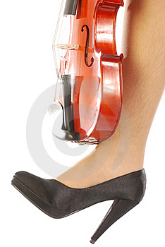 Women And Musical Instrument 006 Royalty Free Stock Photography - Image: 18009777