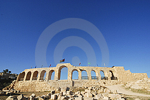 Hippodrome In Jerash Stock Images - Image: 18010334