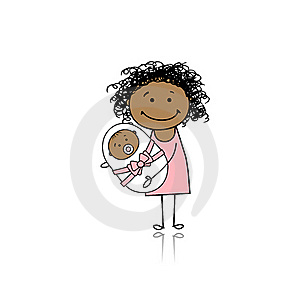 Happy Mother Smiling With Newborn Baby Stock Photos - Image: 18011203