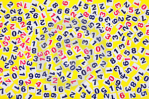 Numeral On A Yellow Background Royalty Free Stock Photos - Image: 18011218