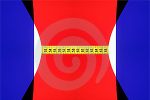 Abstract Body With A Yellow Measuring Tape Royalty Free Stock Images - Image: 18011409