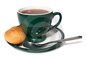 Cup Of Tea And Biscuit Royalty Free Stock Images - Image: 18016229