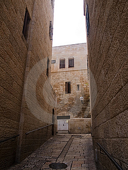 Israel - Jerusalem Old City Alley Stock Photography - Image: 18017692