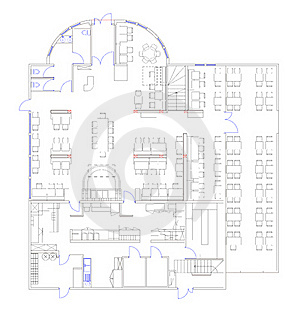Blueprint of a commercial building made in CAD Royalty Free Stock Photos