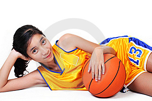 Lady Basketball Player Royalty Free Stock Photos - Image: 18022198
