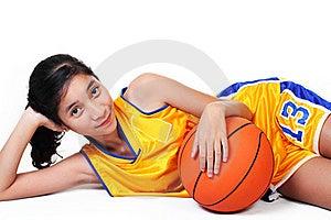 Lady Basketball Player Royalty Free Stock Photos - Image: 18022198