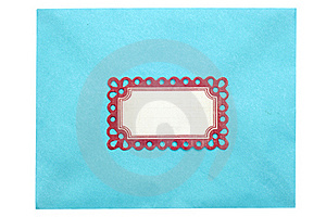 Envelope With Ornate Label Stock Photography - Image: 18025272