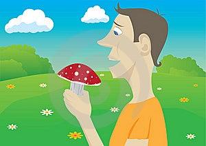 Mushroomer Royalty Free Stock Photography - Image: 18027737