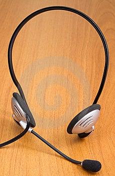 Headset On  Desk Stock Photography - Image: 18028272