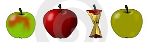 Apples And Core Royalty Free Stock Images - Image: 18029229