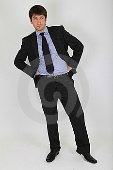 Man In A Business Suit In A Full Length Stock Photography - Image: 18029662
