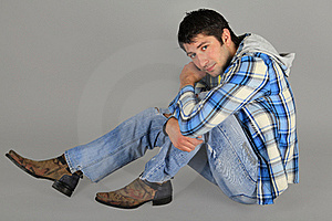Man In Jeans And A Plaid Shirt Stock Images - Image: 18029724