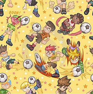 Seamless Soccer Pattern Stock Images - Image: 18030354