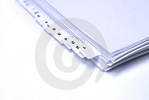 Blank Filings Tabs Royalty Free Stock Photos - Image: 18031408