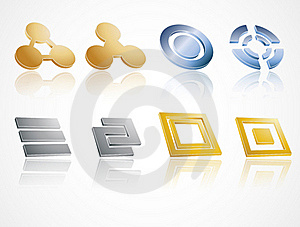 Metal Icons Royalty Free Stock Photo - Image: 18035135