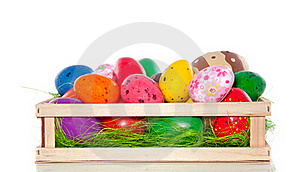 Varied Sorts Of Easter Eggs Stock Images - Image: 18036104