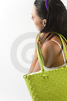Young Woman With Shopping Bag Royalty Free Stock Photos - Image: 18038538