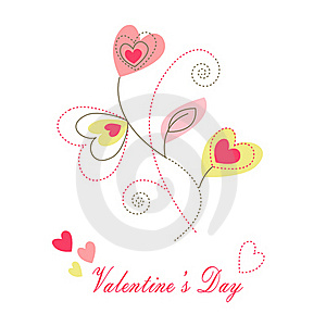 Hearts Valentine's Icons, Wallpaper, Royalty Free Stock Photo - Image: 18038795